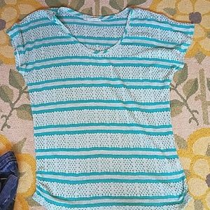 ⚡⚡3 for $20⚡⚡Blue and white knit tee maurices XL
